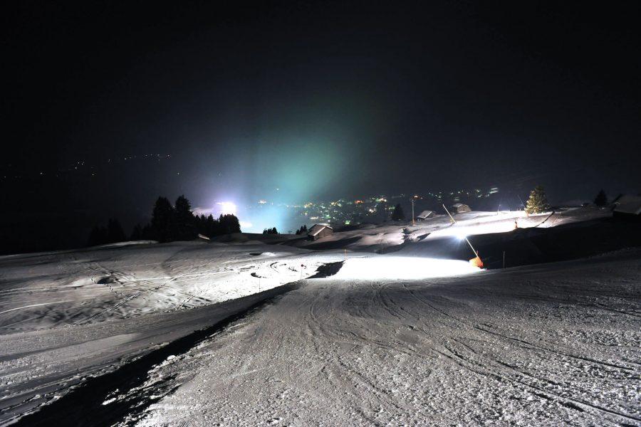 Skitest bei Nacht 09.02.2018